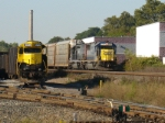 CSX Train X254 passes NYS&W GP-18 as it heads southbound