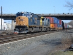 Q108-17 is seen about to enter its terminus at the NYS&W/CSX yard
