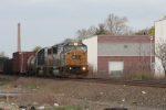 Q439, with a pair of EMD's rolls downgrade towards its recrew at North Bergen