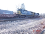 CSX 7557 & CSX 7719 head WB with BNSF Double Stackcar 237898A