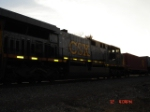 CSX 631 is the trailing unit heading EB on the #4 Track