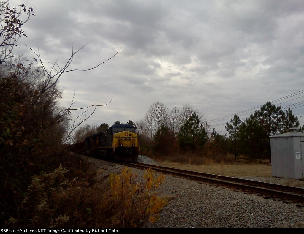 CSX Herzog train in tarboro!