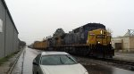CSX F728 stretches down albemarle ave in Tarboro
