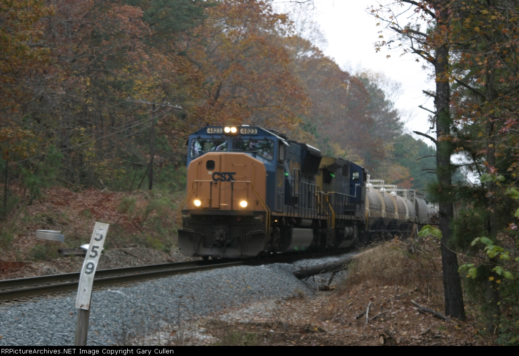 CSX Manifest Train passes MP559