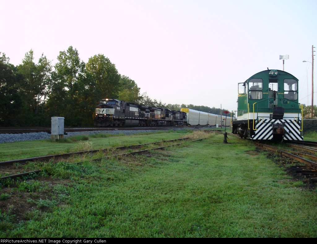 NS Train #212 passes the museum at 7:00AM