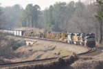 NS Train #154 heading North at the Suwanee Creek Turn during January, 2005