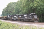Norfolk Southern Rail Train approaching  Walters Control Point
