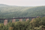 NS #153 crossing the Wells Viaduct with 7 Locomotives