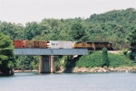 Tropicana Juice Train crossing Lake Altoona