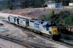 CSX crawling trough the yard