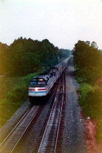 Amtrak #20 passes Carolina at the full 79 mph
