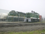 NS 4610 on display for caboose days as SOU 8202 runs by