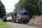 A very short NS #154 north approaching Carolina