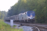 Amtrak #19 heading south past the museum