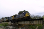 CSX 7609 crosses the old ACL Bridge at