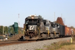NS Train #153 passes the Scrap Metal Yard