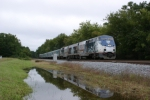 Disney's Christmas Carol Train Tour passes the Southeastern Railway Museum @ 79mph