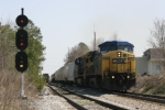 CSX Southbound Manifest Train crests the hill