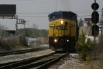"CSX 2 passes the ""S"" signal and prepares to diverge onto the single track"