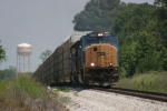 CSX Autorack southbound tops the hill