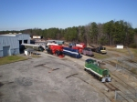 Aerial View of the Southeastern Railway Museum resting.  A perfect day