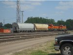 BNSF 1532 & 1900 push 2 Hoppers