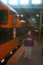 GN 400 inside Roundhouse with young ME
