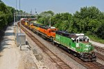 BNSF 2939 and More power lead the transfer to the Up.
