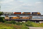 Long live the Santa Fe as the local races a EB Up coal train!!