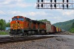 BNSF 4021 Heads up a Wb Freight down main 1.