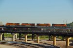 BNSF 7056 Rips a early morning Z train into Kc Mo.