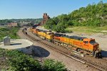 BNSF 4963 rocks a freight train Nb up the Fort Scott Sub.