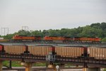 Dash9's team up for this EB BNSF stack train.
