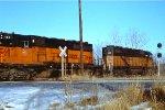 Milwaukee Road power move at Ottumwa, Iowa.