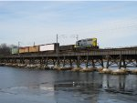 CSX 4405 crossing the Navesink at Red Bank, NJ