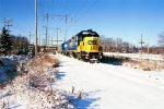 SA 35 in the snow lead by CSX 2798