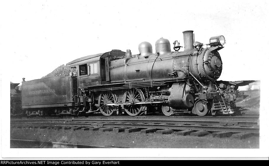 PRR 4-4-0 #5091 - Pennsyvlania RR