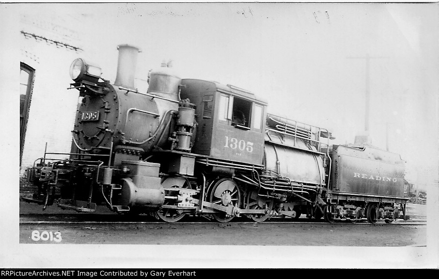 RDG 0-6-0 #1305 T - Philadelphia & Reading RR