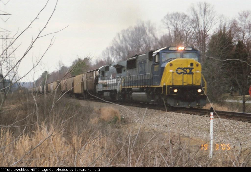 Loaded Grain headed to Rocky Mount, NC