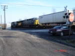 CSX 635 & CSX 632 run an EB Intermodal over the #1 Track