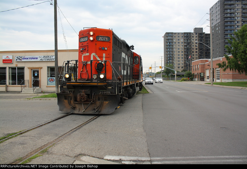 CN 580 on return on the Burford Spur