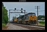 CSX 987, NS 1043 & 1067 on EB ethanol loads