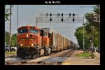 BNSF 5881 & 5609 on WB autoracks