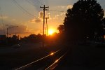 Sunset over the Rails