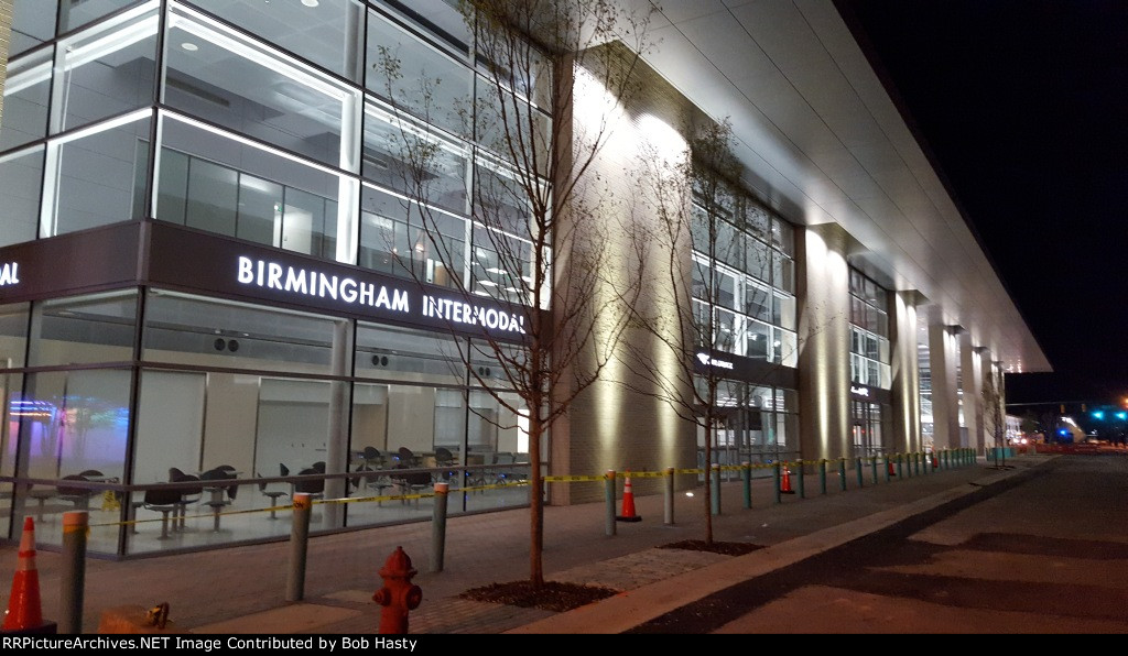 Birminghams new station - night time