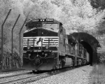 NS 9178 pushes this unit train through Elkhorn Tunnel.