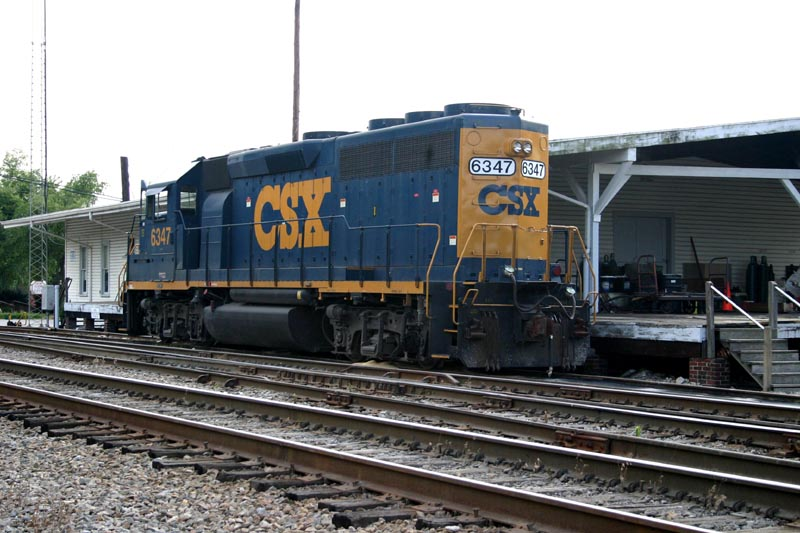 CSX 6347 Sits in Front of SBD Freight House