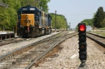 CSX 6349 Sits In Front Of a COOL POT SIGNAL