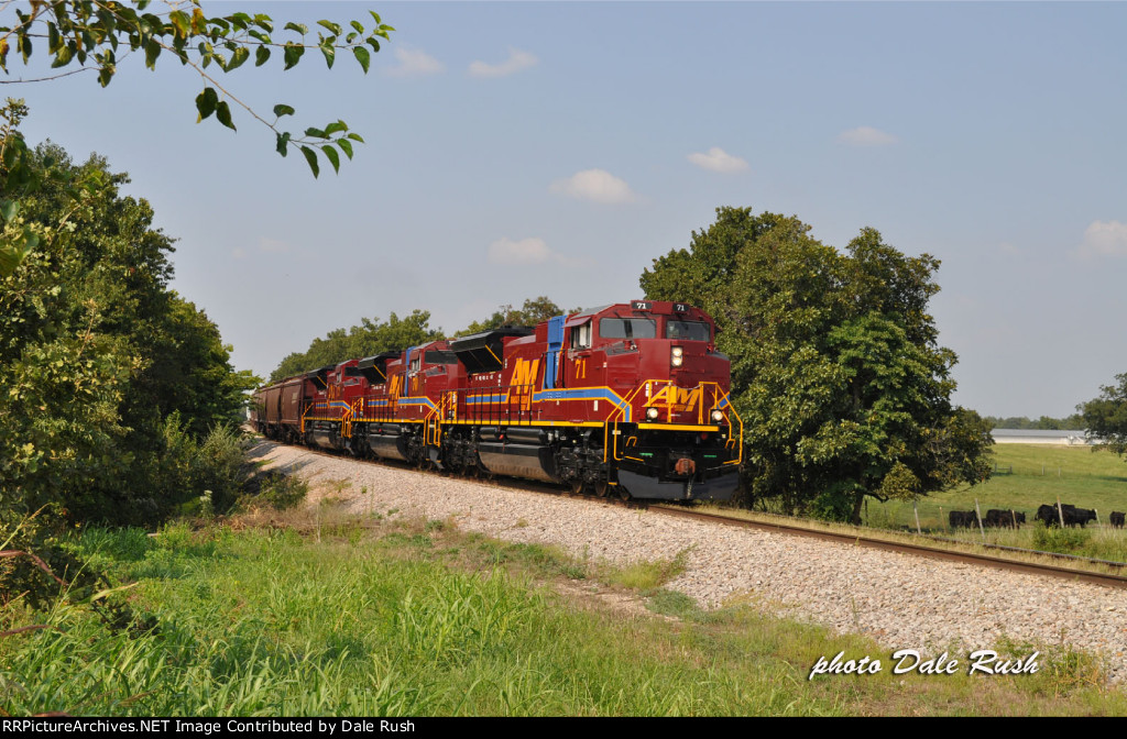 A&M 71 leads new power running elephant style southbound at Farm Road 2115