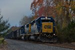 Q434 with a nice SD40-2 leader!